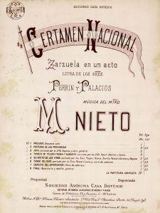 Certamen Nacional-Partitura