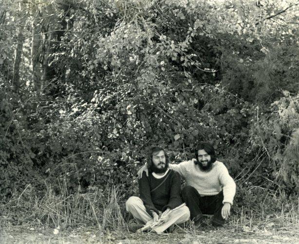 Joaquín Gimeno y Manolo Marteles en el Galacho de Juslibol 1976001