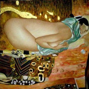 Leda y el cisne Klimt