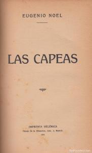 Noel, Eugenio-Las capeas