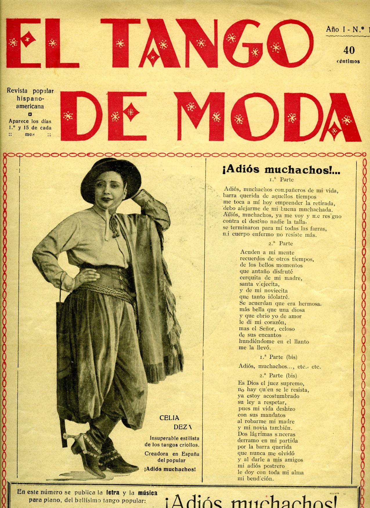Las primeras revistas dedicadas al tango en espa a for Revistas del espectaculo argentino