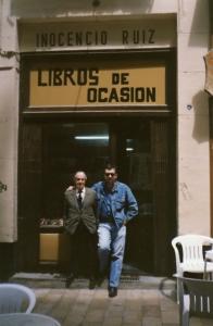 Ruiz Lasala, Inocencio y yo en su librería