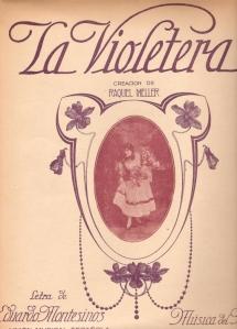 Raquel Meller-Partitura La violetera