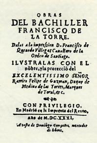 Torre, Francisco de la Obras