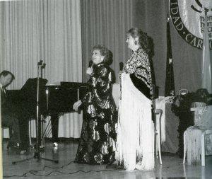 Ramos, Olga y su hija en recital