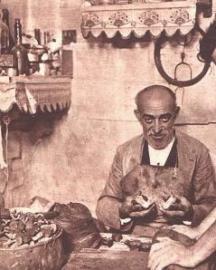 Toribio Casas en su taller a fines de 1935