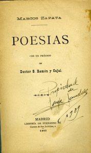 Zapata, Marcos_Poesías