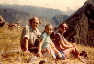 Gracia, Germinal_En Macchu Pichu con su familia