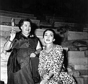 Elvira de Hidalgo con María Callas