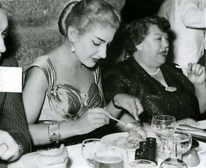 Elvira de Hidalgo y María Callas en Verona