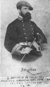 Valbuena, Antonio carlista 1874