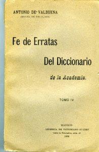 Valbuena_Fe de erratas del Diccionario de la Academia