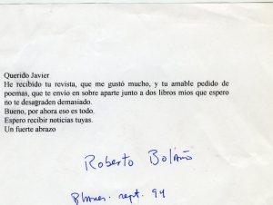 Carta Bolaño_sept 94