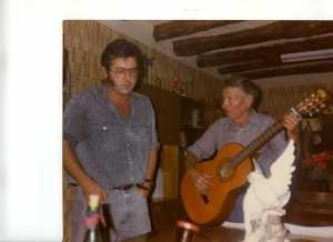 El autor, con José en El Ventorrillo