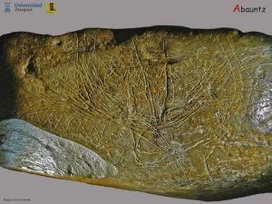 Mapa en piedra de la Cueva deAbauntz