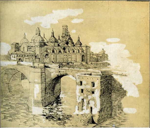 El Pilar dibujado por Galdós
