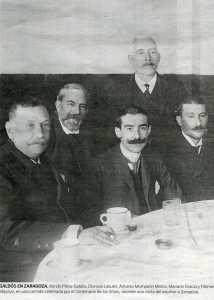 Galdós, Lasuén, Mompeón, Mariano Gracia Albacar y F. Mayayo