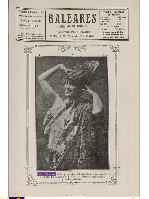 Lola Montes 10-11-1919