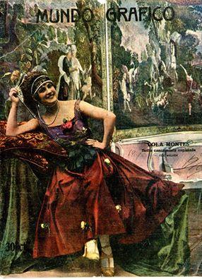Lola Montes, portada de Mundo Gráfico