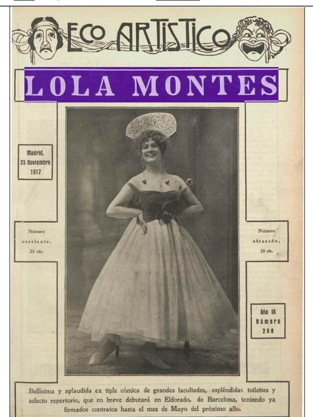 Lola Montes Portada Eco Artísitico.