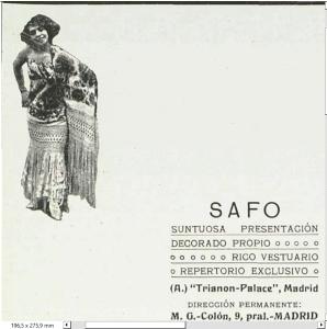 Safo Anuncio presentación el Trianon